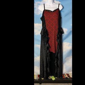 Spirit- Black & Red Maxi Dress Costume size Large